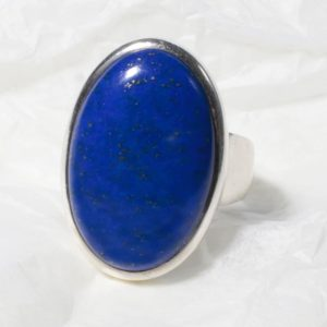 Bague Lapis Lazuli (Afghanistan) Ovale moyen 1021