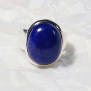 Bague Lapis Lazuli (Afghanistan) Ovale rond 1221