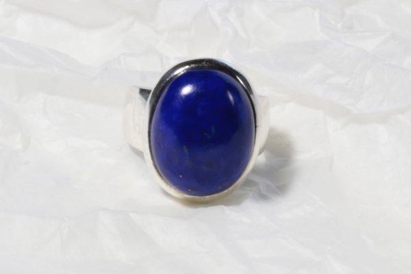 Bague Lapis Lazuli (Afghanistan) Ovale rond 1221