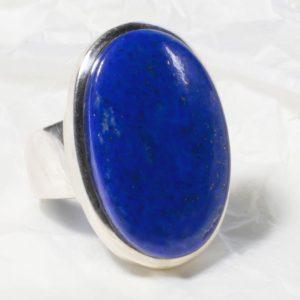 Bague Lapis Lazuli (Afghanistan) Grand ovale réglable 921