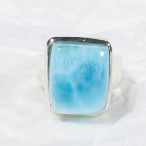 Bague Larimar (République Dominicaine) rectangle moyen