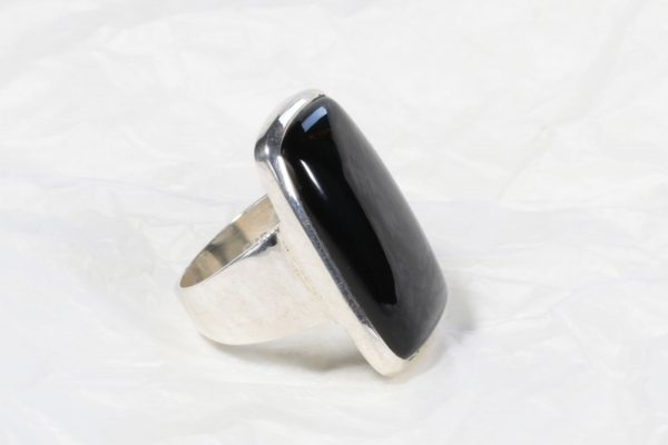 Bague Onyx (Inde) grand rectangle