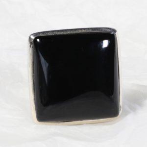 Bague Onyx (Inde) grand carré