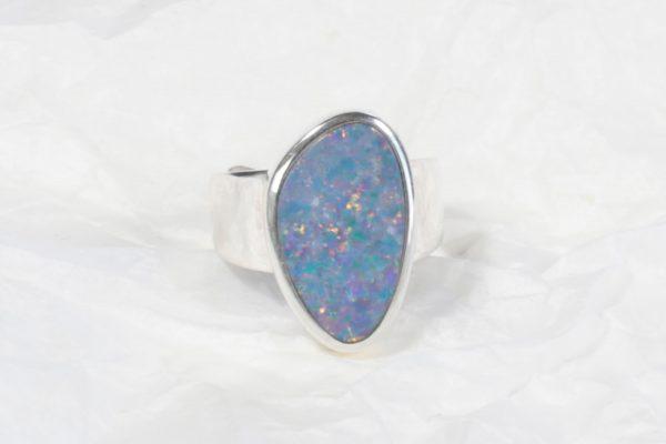 Bague Opale d'Australie ovale