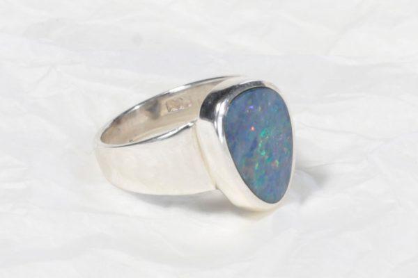 Bague Opale d'Australie petit triangle